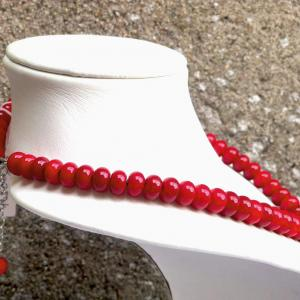 Collier tout perle rouge
