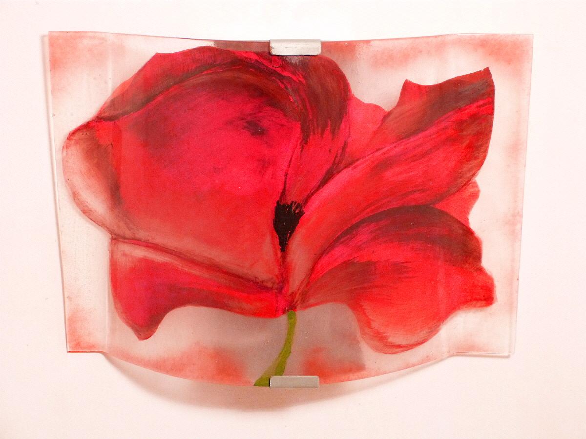 Rouge rose brun - Appliques murales en verre ...