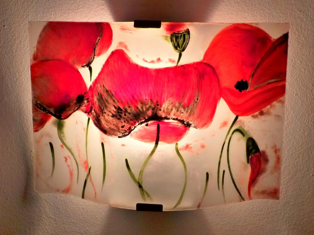 luminaire applique murale la danse des coquelicots. Black Bedroom Furniture Sets. Home Design Ideas