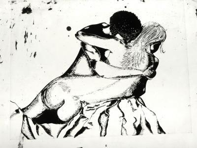 Luminaire applique murale Couple enlacé