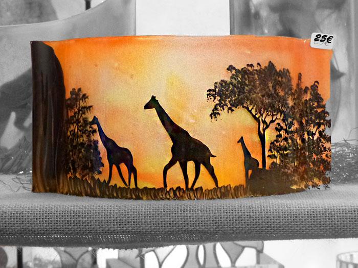 Décoration en verre Girafe