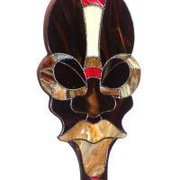 Deco vitrail masque africain rbi