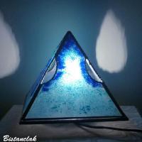 Decoration lumineuse pyramide bleu