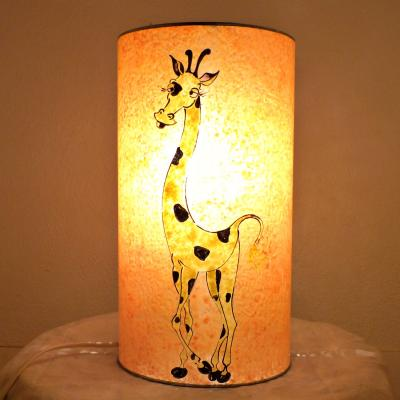 lampe enfant à poser sable orangé Girafe