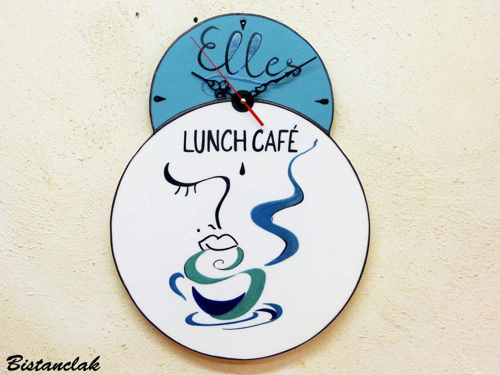 Horloge elles lunch cafe 1