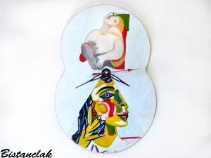 Réalisation horloge Picasso sur mesure