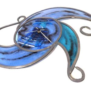 Horloge tribal bleu 2 1