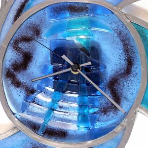 Horloge tribal bleu 4 1