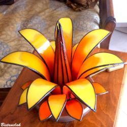Lampe fleur éteinte