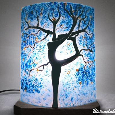 Lampe décorative bleu L'arbre danseuse