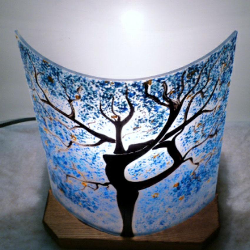 Lampe a poser bleu l arbre danseuse 3