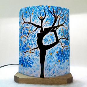 Lampe a poser bleu l arbre danseuse 4