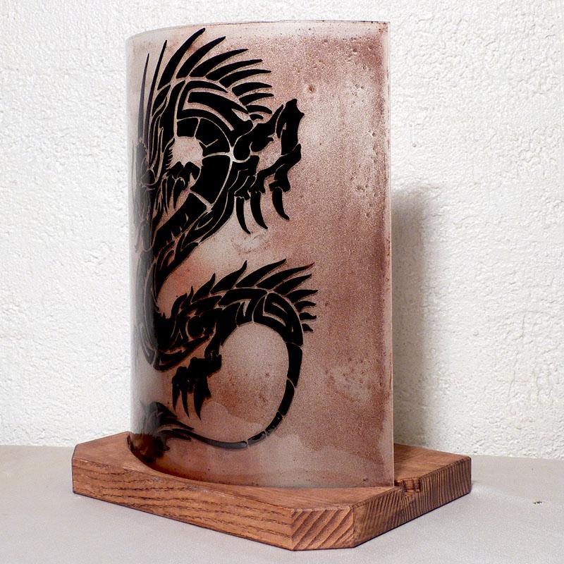 Lampe a poser brun dragon 1