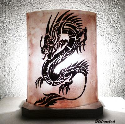Lampe à poser décorative brune  Dragon