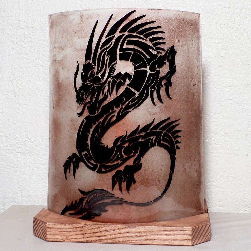 Lampe a poser brun dragon