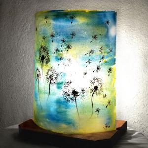 Lampe a poser jaune et bleu pissenlit 6