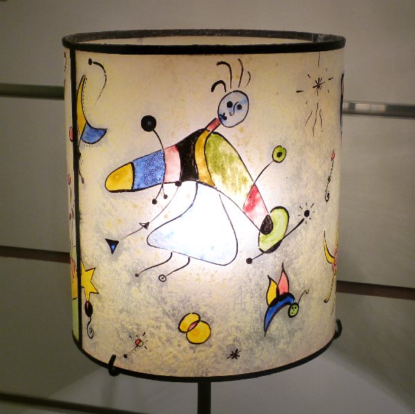 Lampe a poser jaune multicolore inspiration miro6