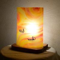 Lampe a poser jaune orange au fil de l eau 1