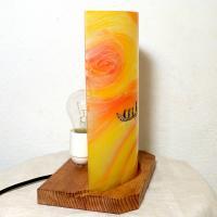 Lampe a poser jaune orange au fil de l eau 3