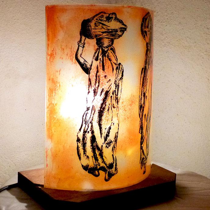 Lampe a poser orange les nomades 7