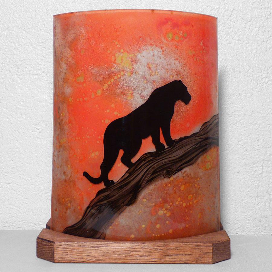 Lampe a poser orange panthere