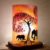 Lampe a poser rouge orange elephant 5