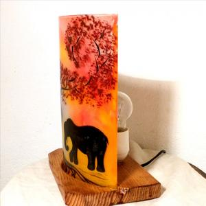 Lampe a poser rouge orange elephant 6
