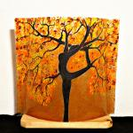 Lampe a poser sable orange motif arbre danseuse