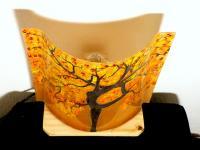 Lampe a poser sable orange arbre danseuse 3