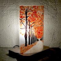 Lampe allee d arbre rouge