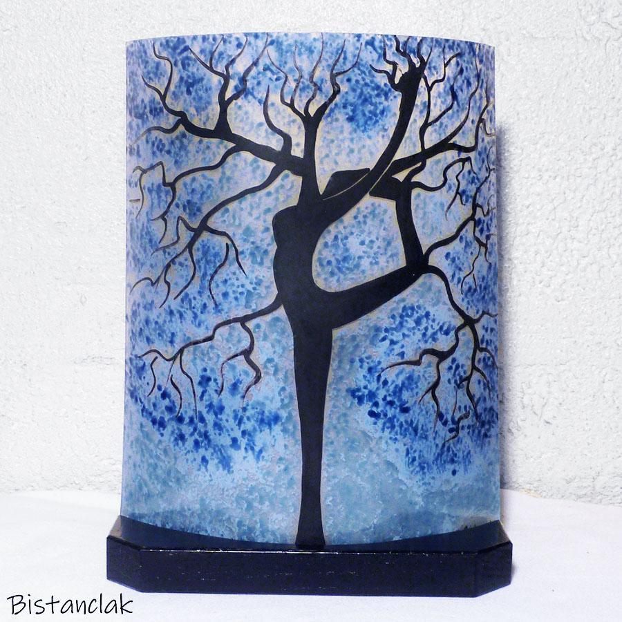 Lampe arbre danseuse bleu clair