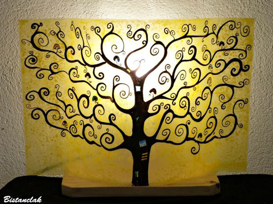 Lampe à poser décorative motif arbre de vie