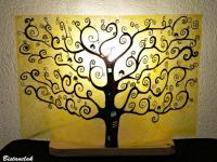 Lampe arbre de vie jaune
