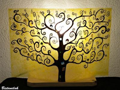 Lampe décorative jaune motif Arbre de vie