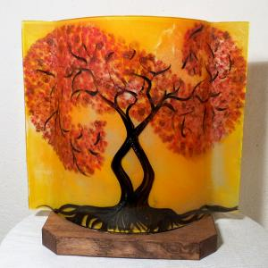 Lampe arbre tortueux jaune orange 4