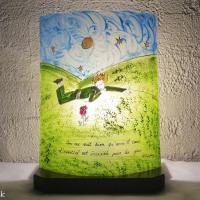 Lampe artisanale au dessin du petit prince