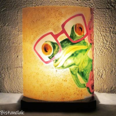 Lampe motif grenouille à lunette