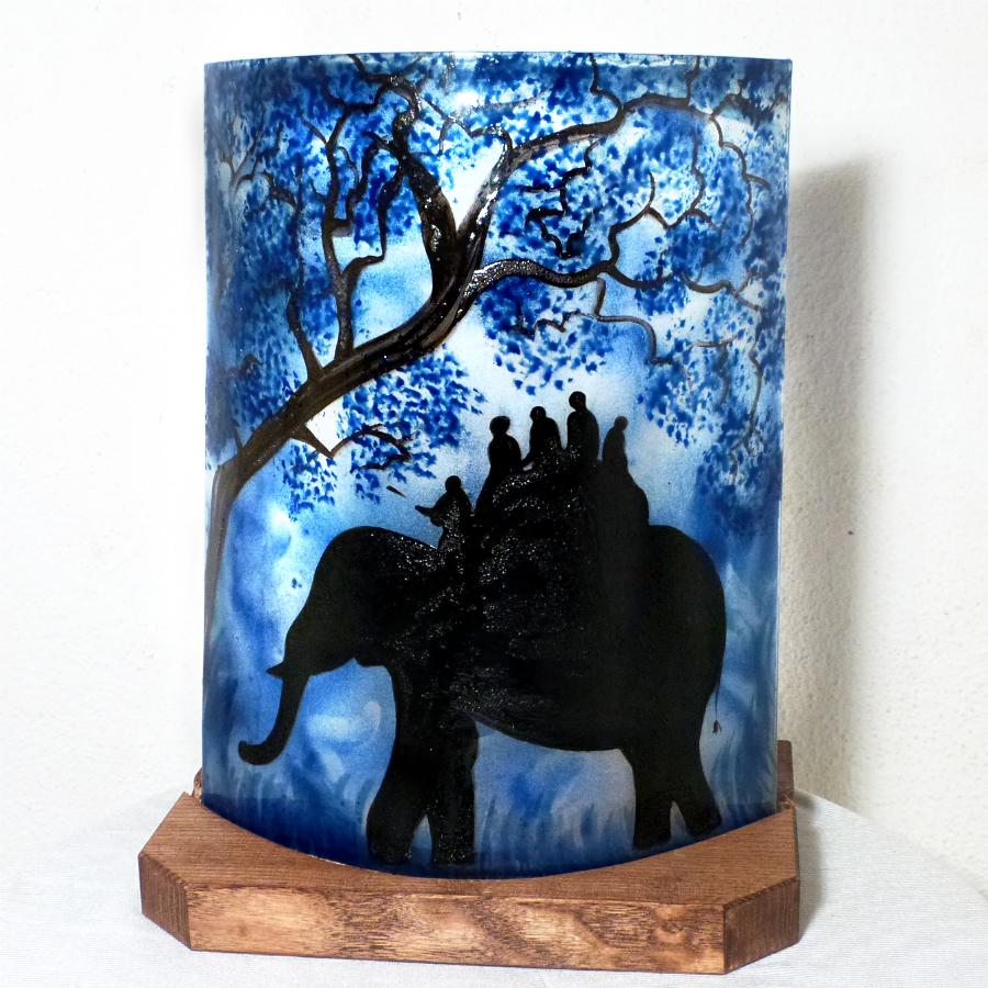 Lampe ballade d elephant bleu 1
