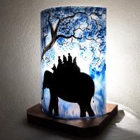Lampe ballade d elephant bleu 3