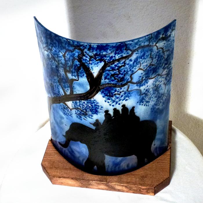 Lampe ballade d elephant bleu 5
