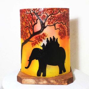 Lampe ballade d elephant jaune orange1