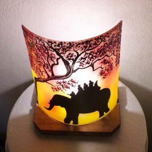 Lampe ballade d elephant jaune orange2
