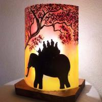 Lampe ballade d elephant jaune orange3