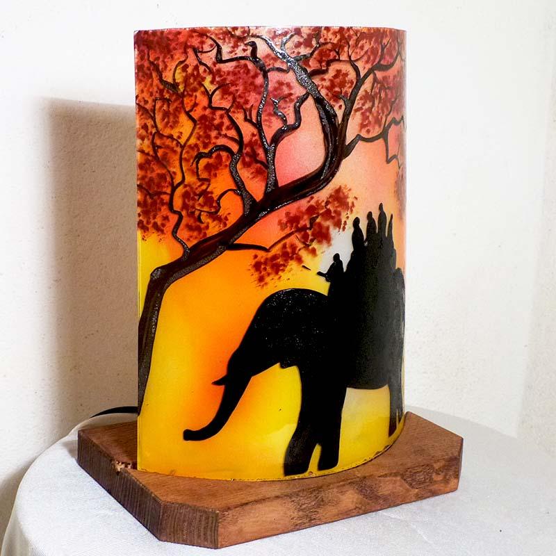 Lampe ballade d elephant jaune orange6