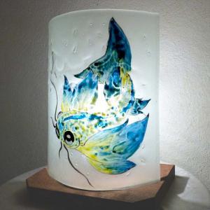 Lampe carpe jaune turquoise5 4