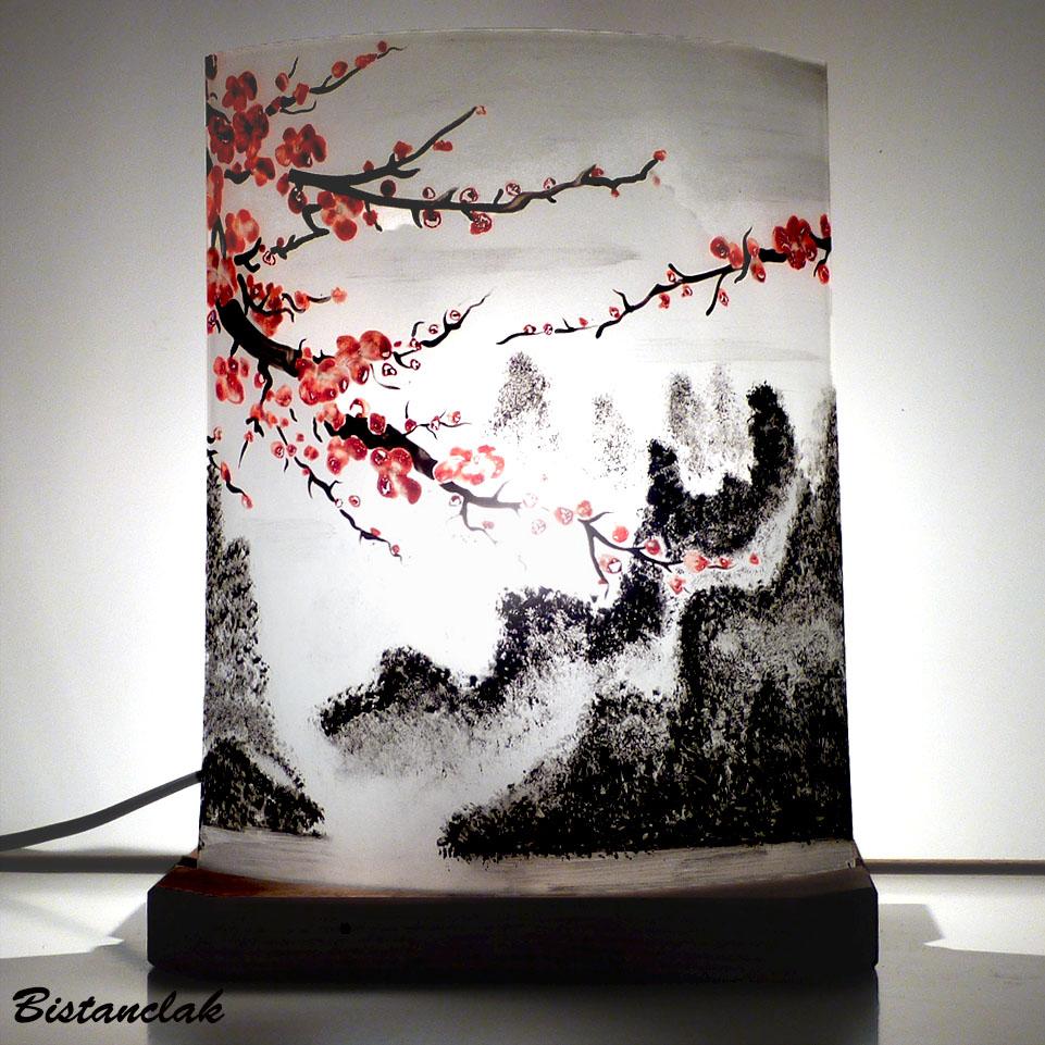 Hauteur Cerisier Du Japon lampe décorative motif fleurs de cerisier du japon