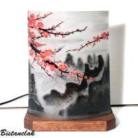 Lampe d'ambiance en verre motif Fleur de cerisier du japon