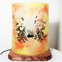Lampe chat orange jaune2 1