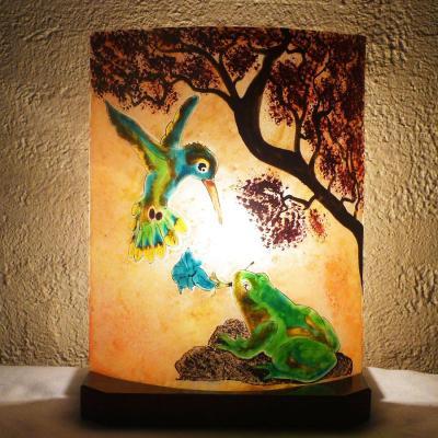 Lampe sur mesure grenouille et colibri
