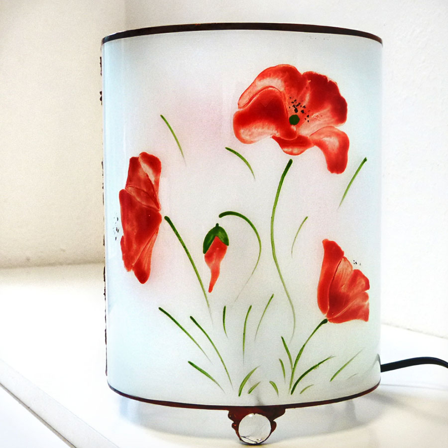 Lampe coquelicot